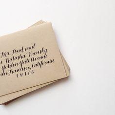 brown fox calligraphy envelopes