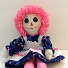 A personal favorite from my Etsy shop https://www.etsy.com/listing/240272189/breast-cancer-awareness-raggedy-ann-doll
