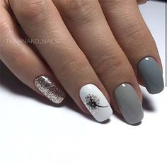 - Novelty and trends in manicure - Page 54 of 119 - Nagelkunst Design - halloween nails Nail Designs Pictures, Nail Art Designs, Classy Nail Designs, Nail Manicure, Diy Nails, Manicure Ideas, Square Gel Nails, Nagellack Trends, Cute Acrylic Nails