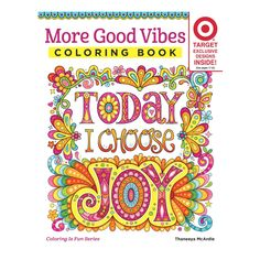 More Good Vibes Coloring Book Target Exclusive Paperback Thaneeya McArdle