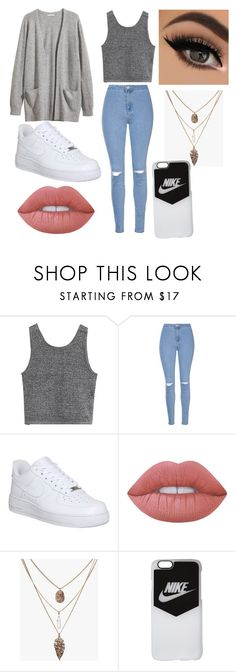 """Untitled #102"" by karmen-rabzelj on Polyvore featuring Glamorous, H&M, NIKE and Lime Crime"