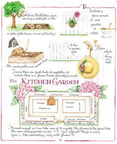 Susan Branch…my favorites are the teenytiny watercolors with bold graphic messages…. Susan Branch Blog, Branch Art, Potager Garden, Plan Potager, Garden Journal, Back To Nature, Garden Beds, Garden Gate, Dream Garden