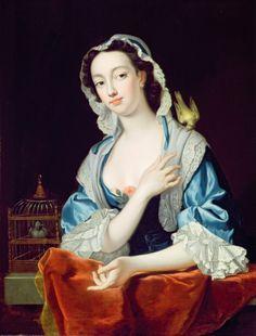 The Athenaeum - Portrait of Margaret 'Peg' Woffington (Jean-Baptiste Van Loo - ) c 1742