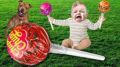 Bad Kid Learn Colors w Candy Giant Chupa Chups Johny Johny Yes Papa Nurs...