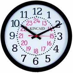 Kincaid Arabic Dial Wall Clock, 14 inch x 14 inch x 2.5 inch, Black Frame