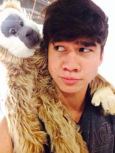 Calum Hood with one of his cousins. ;)