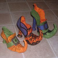 paper mache witch shoes!