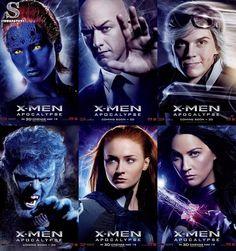 Novos pôsters de X-Men Apocalipse apresentando os personagens do filme. Os demais pôsters estão na nossa página no facebook. O link clicável se encontra na nossa bio! by serianaticos