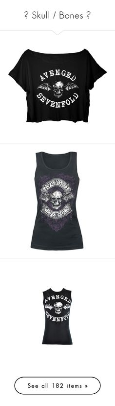"""""""☠ Skull / Bones ☠"""" by crimsonday ❤ liked on Polyvore featuring tops, shirts, crop top, cut-out crop tops, cropped tops, american crop top, shirt top, shirt crop top, tank tops and band merch"""