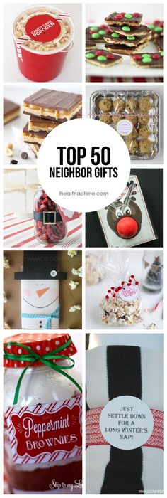 Top 50 neighbor gift ideas on iheartnaptime.com -something for everyone!
