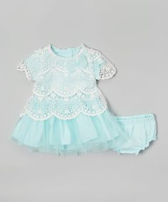 This Light Blue Tulle Sparkle Dress & Diaper Cover - Infant by Nannette Baby is perfect! #zulilyfinds