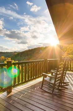 Townsend Vacation Rentals - Rocky Top Joy, this cabin is decorated with quaint, luxury furnishings Vacation Rentals, Where To Go, Porch, Around The Worlds, Deck, Joy, Mountains, Luxury, Places