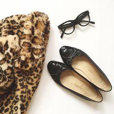 Black + animalier  #black #animalier #fur
