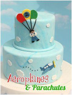 Kindergeburtstag mit Mottoparty - Geburtstagskuchen - Flugzeug-Party