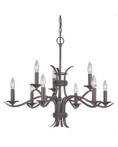 Thomas Lighting Franklin Collection Two-tier Nine-light Chandelier in Painted Bronze Finish Discount Lighting, Bronze Finish, Chandelier Lighting, New Homes, Ceiling Lights, Led, Steel, Ebay