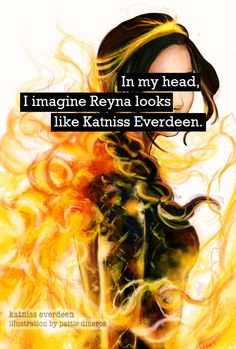 YES! The way they described her in the book was just like describing Katniss