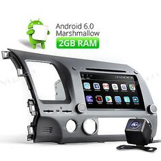 """CAM Android 6.0 2GB Car DVD GPS for Honda Civic 8"""" Bluetooth Stereo Player Radio"""