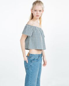 Image 3 of BOAT NECK TOP from Zara