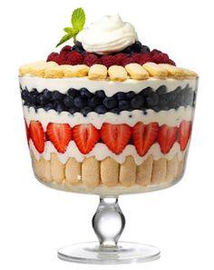 Bowl with Lid by Luigi Bormioli amp; Fruit Trifle Recipe Dessert Trifle Bowl with Lid by Luigi Bormioli amp; Fruit Trifle Recipe / DessertTrifle Bowl with Lid by Luigi Bormioli amp; Fruit Trifle, Köstliche Desserts, Summer Desserts, Fruit Dessert, Strawberry Trifle, Trifle Dish, Layered Desserts, Dessert Healthy, Strawberry Blueberry