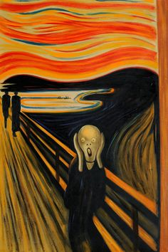 Edvard Munch - The Scream.  Hand painted oil painting reproductions available at overstockArt.com #art