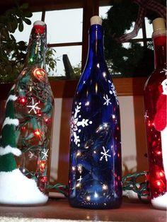 holiday wine lights