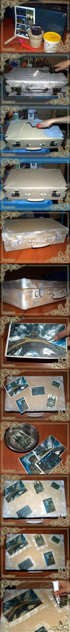 Декупаж - Сайт любителей декупажа - DCPG.RU | Винтажный чемодан