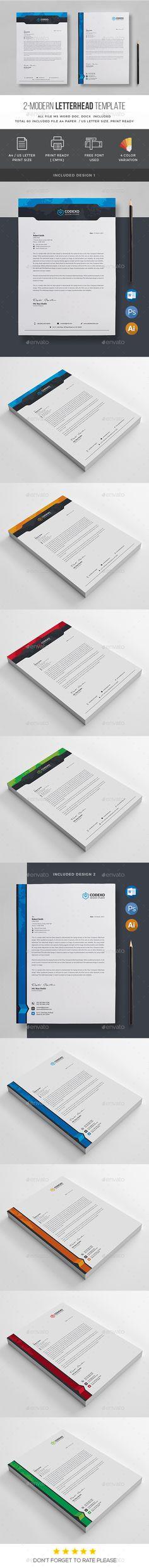 Letterhead Stationery printing Print templates