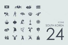 24 South Korea icons by Palau on @creativemarket