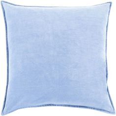 Ava Grace Sky Blue 22-Inch Pillow with Down Fill