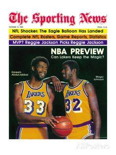 658eff43c1d Los Angeles Lakers Magic Johnson and Kareem Abdul-Jabbar - October 11