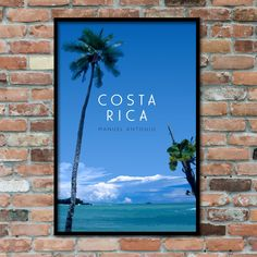 Costa Rica Manuel Antonio Beach Print / Downloadable Travel Poster Art Abstract Photography, Film Photography, Tropical Beaches, Beach Print, International Paper Sizes, Landscape Prints, Photographic Prints, Travel Posters, Digital Illustration