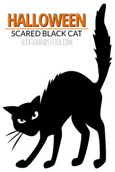 Halloween Black Cat by scratchandstitch.com