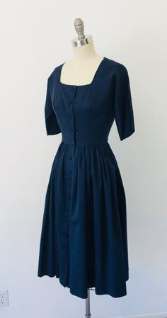 Modest outfits - Maggie Stover Raw Silk Navy Day Dress Navy S – Modest outfits Navy Dress Outfits, Modest Outfits, Modest Fashion, Day Dresses, Fashion Outfits, 1940s Dresses, Flapper Dresses, 40s Outfits, 1940s Fashion Dresses