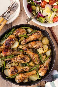 pałki z kurczaka zapiekane w sosie musztardowo-miodowym