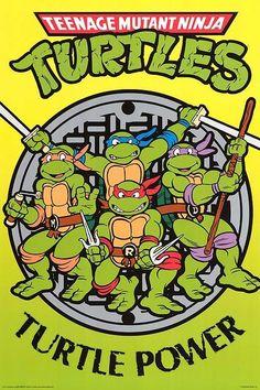 Teenage Mutant Ninja Turtles Turtle Power Poster 24 x 36 inches Ninja Turtles Cartoon, Ninja Turtle Party, Teenage Mutant Ninja Turtles, Ninja Turtle Birthday, Tmnt, Cartoon Shows, Anime, Nerd Geek, Comic Art
