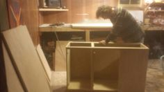Working on building custom cabinetry