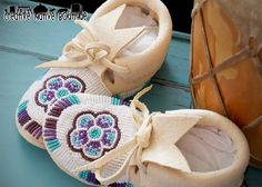 Creative Native Boutique: Girl's size 6 Custom Moccasins