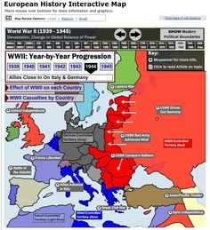 European History Interactive Map