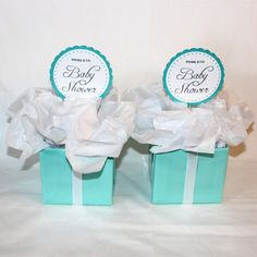 2 Centerpieces   Tiffany Co. Inspired Box   Tiffany Blue And White    Designed For