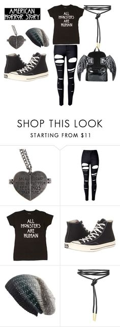 """AHS season 5"" by ninjatyrantturtle ❤ liked on Polyvore featuring Hot Topic, WithChic, Converse, Michael Stars and Iron Fist"