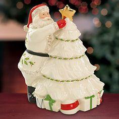 Holiday Santa Cookie Jar by Lenox