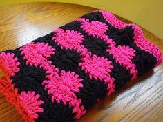 CROCHET PATTERN, Chunky Yarn Baby Blanket, Swirls Stroller Blankie, Afghan, Throw, Modern, Contemporary, Use With Bulky Yarn, Chunky Yarn