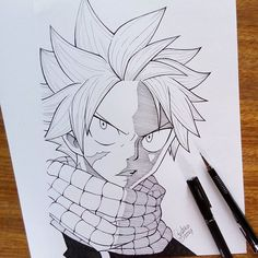 Natsu Dragneel  Done ✏ And they liked it? Mark the friends, I hope you like it  O que acham da minha arte? Espero que gostem ❤ . . . #natsudragneel #natsu #fairytail #mangaart #instaart #artline #drawings #anime #manga #hiromashima #animearttr #animeartshelp #animedrawing #mangadrawing #mangaka #fire #dragon #dragneel #art