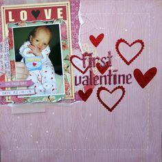 First valentine - Scrapbook.com
