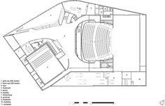 beeld 4 / 11 Loozekoot van UNStudio over theater Spijkenisse Theater Plan, Un Studio, Hall Flooring, Plans Architecture, Theatre Design, Zaha Hadid, Concert Hall, Auditorium, Foyer