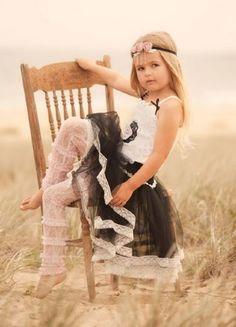 Cute little girl pose