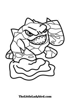 skylanders thumpback coloring pages | Skylanders Giants ...