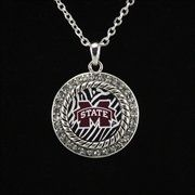 Mississippi State Bulldogs Zebra Twisted Rope Necklace
