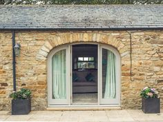 1 bedroom holiday cottage in Richmond North Yorkshire for two people Barn Windows, Patio Windows, Arched Windows, French Windows, Barn Doors, French Doors, Bungalow Exterior, Dream House Exterior, House Exteriors