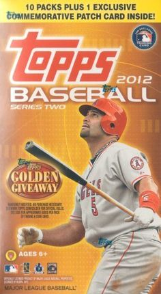 """2012 Topps Baseball Series Two Factory Sealed Unopened Blaster Box That Contains 10 Packs with 8 Cards Per for a Total of 80 Cards Plus One Commemorative Patch Card! by Archives. $22.99. This is a 2012 Topps Baseball Series Two Factory Sealed Unopened """"Blaster"""" Box that contains 10 packs with 8 cards per for a total of 80 cards plus one Commemorative Patch Card! Chance at a ton of different stars and rookie cards including Yu Darvish and Yoenis Cespedes, autographs, Game ..."""